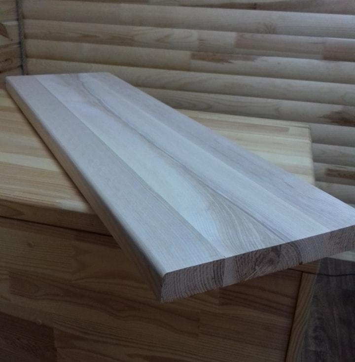 Мебельный щит цельноламельный дуб А/В